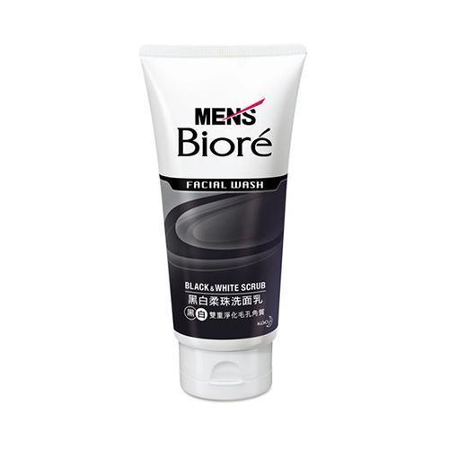 Kao Biore Facial Wash Black White Scrub For Men 100g