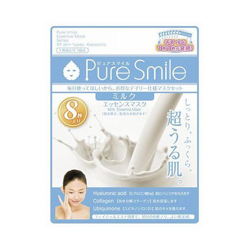 Pure Smile Essence Mask Pack Milk 8sheets