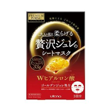 Utena Premium Puresa Golden Jelly Gelee Mask Hyaluronic Acid 3sheets