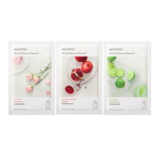 Innisfree - My Real Squeeze Mask - 12 Types Green Tea