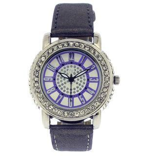 Crystal Wrist Watch Purple & Silver - One Size