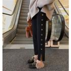 Crew-neck Sweater / Knit Straight-cut Pants