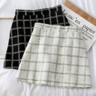 Glitter Checker Mini Skirt