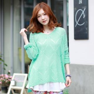 Loose-fit Open-knit Top