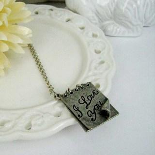 Silver Love Letter Necklace Silver - One Size
