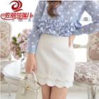 Scallop Trim Skirt