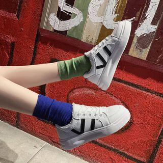 Contrast Block Sneakers
