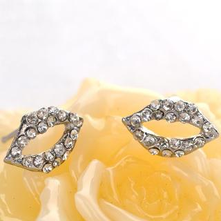 Lips Earrings  Silver - One Size