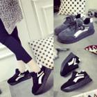 Contrast Color Platform Sneakers