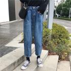 Harem Cropped Denim Pants