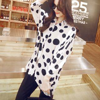 Dotted Dip Back Shirt