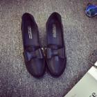 Bow Hidden Wedge Loafers