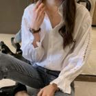Crisscross-sleeve Shirt