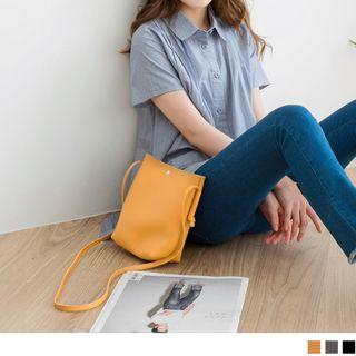 Sling Faux Leather Pouch