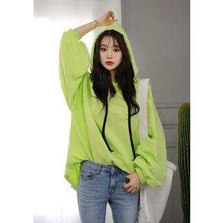 Hooded Colored Oversized Pullover