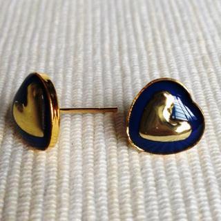 Resin Heart Earrings (navy) One Size