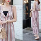 V-neck Pattern Jumpsuit