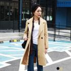 Breasted Lapel Trench Coat