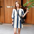 Tasseled Patterned Mini Dress