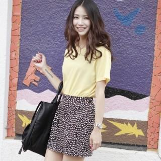 Patterned Miniskirt