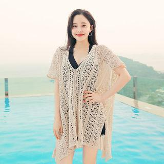 Coverup Pointelle Knit Top
