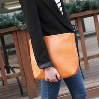 Faux-leather Shoulder Bag With Clutch