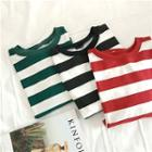 Striped Short Sleeve Loose-fit T-shirt