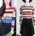 Striped Sweater / A-line Skirt