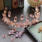 Set: Wedding Crystal Head Crown + Earring