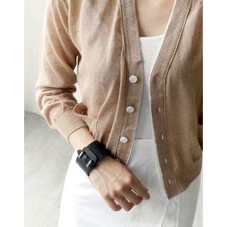 Buckled Genuine Leather Bracelet