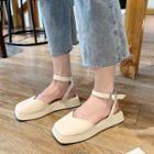 Square Toe Platform Sandals