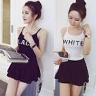 Lettering Knit Camisole Top