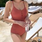 Half Button Swimsuit