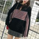 Round-neck Knit Sweater Black - One Size