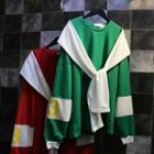 Mock Two-piece Panel Sweatshirt