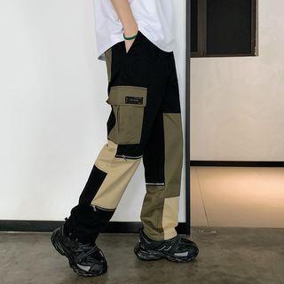 Color-block Cargo Pants