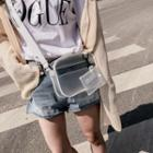 Clear Crossbody Bag With Pouch Transparent - One Size