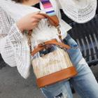 Transparent Straw Bucket Bag