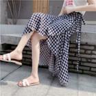 Gingham Midi Wrap Skirt