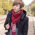 Snowflake Cable-knit Scarf
