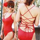 Lace-up Swimsuit