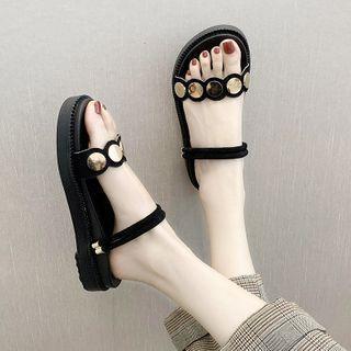 Disc Platform Slide Sandals