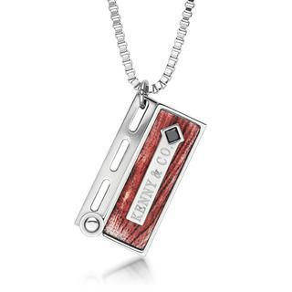 Black Crystal, Grain Clapper Board Pendant With Necklace(red) Red - One Size