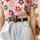 Heart Buckled Genuine Leather Belt