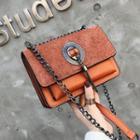 Lock Details Chain Strap Crossbody Bag