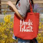 Nordic Island Series Canvas Shopper Bag