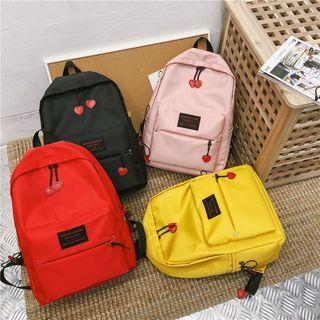 Heart Detail Canvas Backpack