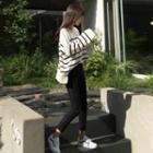 Oversized Stripe Knit Top