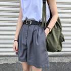 Straight-fit Dress Shorts