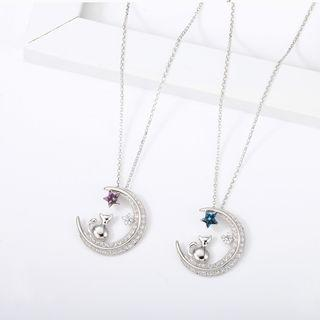Swarovski Elements Moon Necklace
